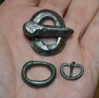 A great value group of 3 x Anglo Saxon bronze Buckles found in North Yorkshire. SOLD
